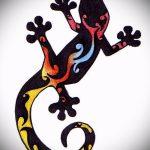 Оригинальный эскиз для тату саламандра – рисунок для формирования идеи особенной татуировки с саламандрой