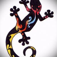 Эскизы тату саламандра