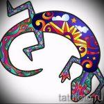 Стильный эскиз для татуировки саламандра – изображение для формирования идеи эксклюзивной тату с саламандрой