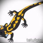 Крутой эскиз для тату саламандра – картинка для формирования задумки уникальной тату с саламандрой