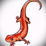 Стильный эскиз для тату саламандра – рисунок для формирования идеи особенной тату с саламандрой