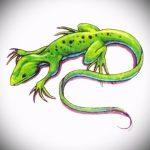 Оригинальный эскиз для татуировки саламандра – картинка для формирования задумки уникальной tattoo с саламандрой