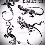 Интересный эскиз для тату саламандра – рисунок для формирования идеи особенной тату с саламандрой