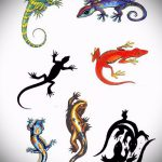 Оригинальный эскиз для наколки саламандра – картинка для формирования задумки уникальной tattoo с саламандрой