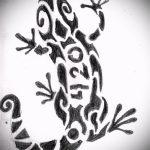 Стильный эскиз для татуировки саламандра – изображение для формирования идеи уникальной tattoo с саламандрой