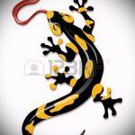 Крутой эскиз для тату саламандра – рисунок для формирования идеи эксклюзивной тату с саламандрой