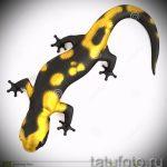 Классный эскиз для татуировки саламандра – изображение для формирования идеи эксклюзивной tattoo с саламандрой