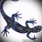 Интересный эскиз для наколки саламандра – картинка для формирования идеи уникальной тату с саламандрой