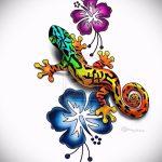 Достойный эскиз для наколки саламандра – изображение для формирования идеи особенной татуировки с саламандрой