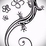 Интересный эскиз для наколки саламандра – картинка для формирования идеи уникальной tattoo с саламандрой