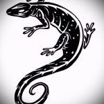 Оригинальный эскиз для наколки саламандра – изображение для формирования идеи особенной тату с саламандрой