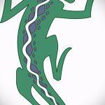 Классный эскиз для наколки саламандра – картинка для формирования идеи эксклюзивной тату с саламандрой