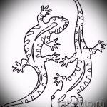 Оригинальный эскиз для татуировки саламандра – рисунок для формирования задумки уникальной татуировки с саламандрой
