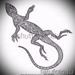 Классный эскиз для наколки саламандра – изображение для формирования идеи уникальной tattoo с саламандрой