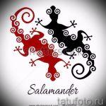 Крутой эскиз для татуировки саламандра – картинка для формирования идеи эксклюзивной тату с саламандрой
