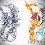 Стильный эскиз для наколки саламандра – картинка для формирования задумки эксклюзивной тату с саламандрой