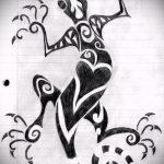 Оригинальный эскиз для татуировки саламандра – рисунок для формирования задумки особенной tattoo с саламандрой