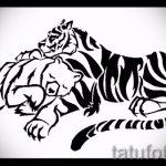 Классный эскиз татуировки тату тигр (рисунки для татуировки с тигром) - идея рисунка эскизы тату тигр (рисунки для татуировки с тигром) для разработки стильной идеи тату тигр
