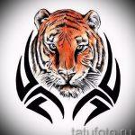 Достойный эскиз наколки тату тигр (рисунки для татуировки с тигром) - идея рисунка эскизы тату тигр (рисунки для татуировки с тигром) для разработки стильной идеи татуировки тигр