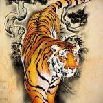Оригинальный эскиз наколки тату тигр (рисунки для татуировки с тигром) - идея рисунка эскизы тату тигр (рисунки для татуировки с тигром) для создания уникальной идеи тату тигр