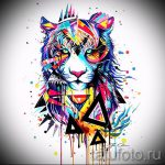 Интересны эскиз наколки тату тигр (рисунки для татуировки с тигром) - вариант рисунка эскизы тату тигр (рисунки для татуировки с тигром) для разработки эксклюзивной идеи тату тигр