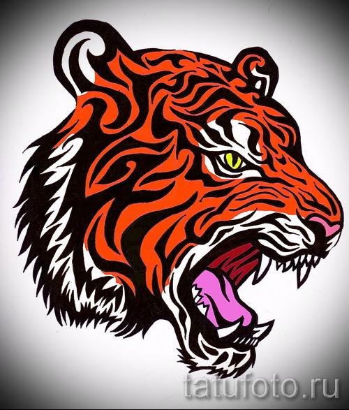 Крутой эскиз тату тату тигр (рисунки для татуировки с тигром) - идея рисунка эскизы тату тигр (рисунки для татуировки с тигром) для создания уникальной идеи татуировки тигр