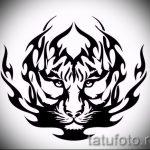 Крутой эскиз тату тату тигр (рисунки для татуировки с тигром) - вариант рисунка эскизы тату тигр (рисунки для татуировки с тигром) для разработки интересной идеи тату тигр