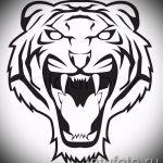 Интересны эскиз наколки тату тигр (рисунки для татуировки с тигром) - вариант рисунка эскизы тату тигр (рисунки для татуировки с тигром) для создания интересной идеи тату тигр