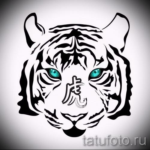 Прикольный эскиз татуировки тату тигр (рисунки для татуировки с тигром) - вариант рисунка эскизы тату тигр (рисунки для татуировки с тигром) для создания уникальной идеи тату тигр