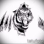 Оригинальный эскиз тату тату тигр (рисунки для татуировки с тигром) - идея рисунка эскизы тату тигр (рисунки для татуировки с тигром) для разработки эксклюзивной идеи татуировки тигр