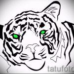 Достойный эскиз татуировки тату тигр (рисунки для татуировки с тигром) - вариант рисунка эскизы тату тигр (рисунки для татуировки с тигром) для разработки уникальной идеи тату тигр