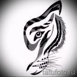 Крутой эскиз тату тату тигр (рисунки для татуировки с тигром) - вариант рисунка эскизы тату тигр (рисунки для татуировки с тигром) для создания интересной идеи тату тигр
