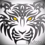 Классный эскиз татуировки тату тигр (рисунки для татуировки с тигром) - идея рисунка эскизы тату тигр (рисунки для татуировки с тигром) для разработки стильной идеи татуировки тигр