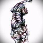 Классный эскиз татуировки тату тигр (рисунки для татуировки с тигром) - идея рисунка эскизы тату тигр (рисунки для татуировки с тигром) для создания эксклюзивной идеи татуировки тигр