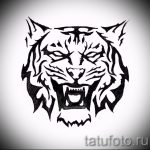 Достойный эскиз тату тату тигр (рисунки для татуировки с тигром) - вариант рисунка эскизы тату тигр (рисунки для татуировки с тигром) для создания уникальной идеи тату тигр