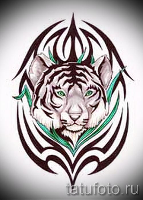 Достойный эскиз наколки тату тигр (рисунки для татуировки с тигром) - вариант рисунка эскизы тату тигр (рисунки для татуировки с тигром) для разработки стильной идеи татуировки тигр