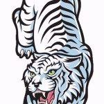 Классный эскиз татуировки тату тигр (рисунки для татуировки с тигром) - вариант рисунка эскизы тату тигр (рисунки для татуировки с тигром) для разработки эксклюзивной идеи татуировки тигр