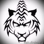 Прикольный эскиз татуировки тату тигр (рисунки для татуировки с тигром) - вариант рисунка эскизы тату тигр (рисунки для татуировки с тигром) для разработки интересной идеи татуировки тигр