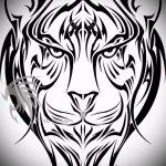 Крутой эскиз наколки тату тигр (рисунки для татуировки с тигром) - вариант рисунка эскизы тату тигр (рисунки для татуировки с тигром) для создания уникальной идеи татуировки тигр
