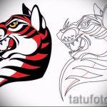 Интересны эскиз тату тату тигр (рисунки для татуировки с тигром) - идея рисунка эскизы тату тигр (рисунки для татуировки с тигром) для разработки стильной идеи тату тигр