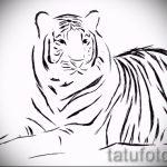 Достойный эскиз наколки тату тигр (рисунки для татуировки с тигром) - вариант рисунка эскизы тату тигр (рисунки для татуировки с тигром) для создания уникальной идеи татуировки тигр