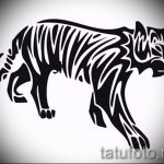 Классный эскиз тату тату тигр (рисунки для татуировки с тигром) - вариант рисунка эскизы тату тигр (рисунки для татуировки с тигром) для разработки интересной идеи тату тигр