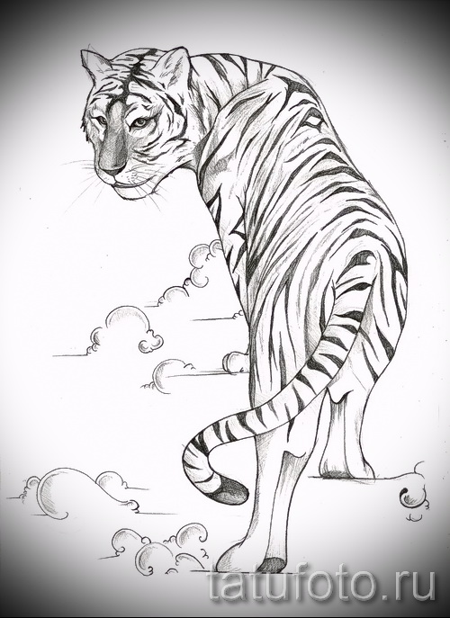 Крутой эскиз наколки тату тигр (рисунки для татуировки с тигром) - идея рисунка эскизы тату тигр (рисунки для татуировки с тигром) для создания эксклюзивной идеи татуировки тигр
