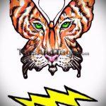 Достойный эскиз татуировки тату тигр (рисунки для татуировки с тигром) - идея рисунка эскизы тату тигр (рисунки для татуировки с тигром) для разработки уникальной идеи татуировки тигр