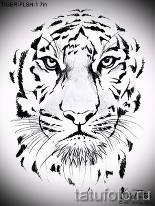 эскиз тату тигр с парашютом квартир Иглине