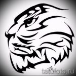 Достойный эскиз наколки тату тигр (рисунки для татуировки с тигром) - вариант рисунка эскизы тату тигр (рисунки для татуировки с тигром) для разработки уникальной идеи тату тигр