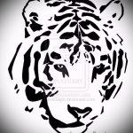 Оригинальный эскиз тату тату тигр (рисунки для татуировки с тигром) - идея рисунка эскизы тату тигр (рисунки для татуировки с тигром) для создания стильной идеи татуировки тигр