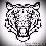 Классный эскиз татуировки тату тигр (рисунки для татуировки с тигром) - идея рисунка эскизы тату тигр (рисунки для татуировки с тигром) для разработки интересной идеи татуировки тигр