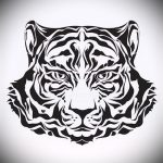 Интересны эскиз наколки тату тигр (рисунки для татуировки с тигром) - вариант рисунка эскизы тату тигр (рисунки для татуировки с тигром) для разработки стильной идеи татуировки тигр
