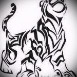 Прикольный эскиз тату тату тигр (рисунки для татуировки с тигром) - идея рисунка эскизы тату тигр (рисунки для татуировки с тигром) для создания эксклюзивной идеи тату тигр